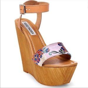 FLAWED Steve Madden Bella Platform Wedge Sandal 39